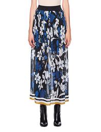 JADICTED Flower Plissé Skirt Blue Multicolor