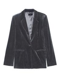 JADICTED Corduroy Blazer Glitter Grey