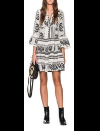 DEVOTION Ethno Dress Black White