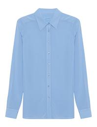 JADICTED Classic Silk Blouse Light Blue