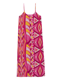 JADICTED Silk Dress Strap Loose Pink Multicolor