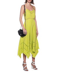 JADICTED Lace Dress Bright Yellow
