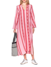DEVOTION Long Kaftan Red Pink