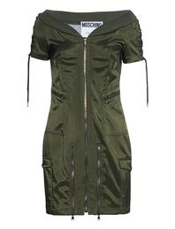 MOSCHINO Military Zip Green