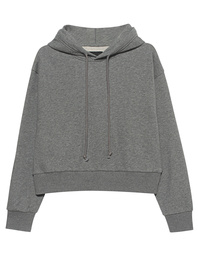 JADICTED Crop Hood Grey Melange