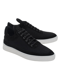 Filling Pieces Low Top Fundament Mesh Black