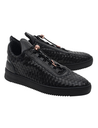 Filling Pieces Low Top Twist Black