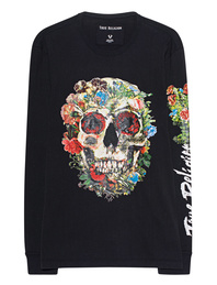 TRUE RELIGION Skull Bloom Black