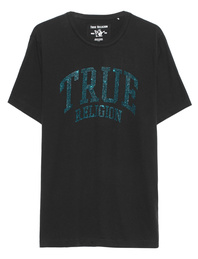 TRUE RELIGION Crew Sparkle Black