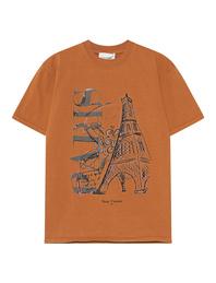 Deux Visions Paris Eiffelturm Shirt Rusty Brown