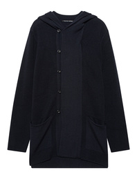 HANNES ROETHER Button Hood Navy