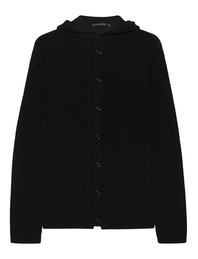 HANNES ROETHER Hood Knit Black