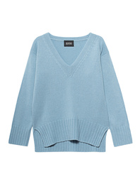 SLY 010 Cashmere V Neck Blue