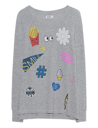 LAUREN MOSHI Amor Patches Heather Grey