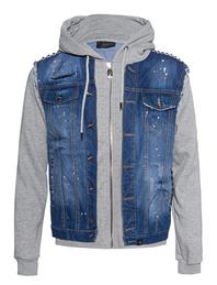 BARLEÉS Denim Sweater Grey