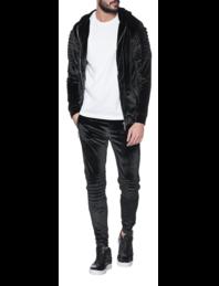 BARLEÉS Velvet Zipper Details Black