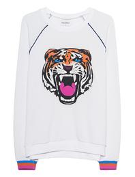 LAUREN MOSHI Lina Raglan Piping Tiger Stripe White