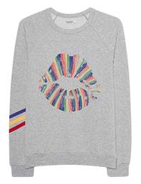 LAUREN MOSHI Avalon Stripes Rainbow Lip Grey