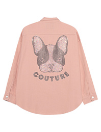 CAMOUFLAGE COUTURE STORK Denim Shirt Dog Rose