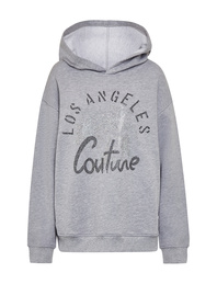 CAMOUFLAGE COUTURE Hoodie LA Palms Grey
