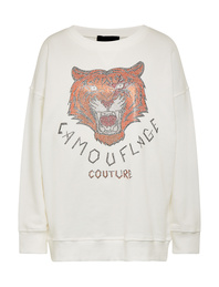 CAMOUFLAGE COUTURE Sweatshirt Tiger White
