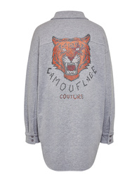 CAMOUFLAGE COUTURE Smiley Crystal Tiger Grey