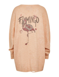 CAMOUFLAGE COUTURE Cardigan Flamingo Toy Rose