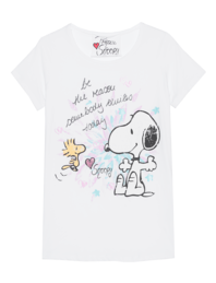 PRINCESS GOES HOLLYWOOD Snoopy Smile Today White