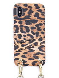IPHORIA Iphoria D-Necklace Strap Case With Card Slot for IPhone X/Xs Leo - Stay with me