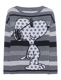 PRINCESS GOES HOLLYWOOD Snoopy Stripes Grey Multi