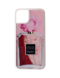 IPHORIA Liquid Case Flower Glitter Pink