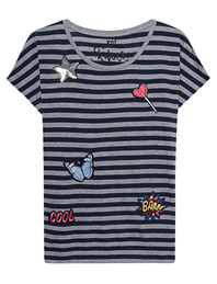 PRINCESS GOES HOLLYWOOD Patches Shirt Stripe