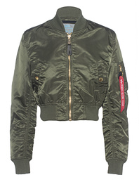 ALPHA INDUSTRIES INC Cropped Bomber Dark Green