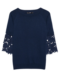 STEFFEN SCHRAUT Fine Knit Lace Dark Blue