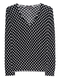 PRINCESS GOES HOLLYWOOD V Neck Dots Black