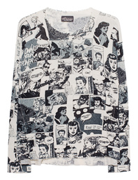 PRINCESS GOES HOLLYWOOD Comic Print Off-White