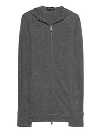 Andrea Ya`aqov Wool Zip Up Grey