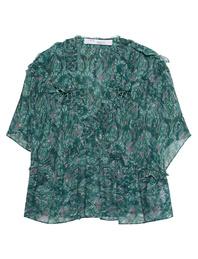 IRO Ruffled Pattern Green