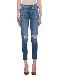 RE/DONE High Rise Ankle Crop Lightblue