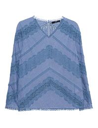 STEFFEN SCHRAUT Lace Detail Cotton Indigo