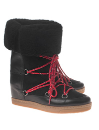Isabel Marant Étoile Nowly Shearling Snow Black