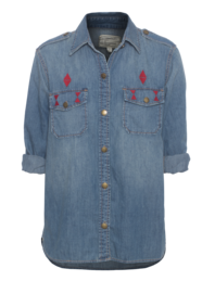 CURRENT/ELLIOTT The Perfect Shirt Miner Diamond Embroidery
