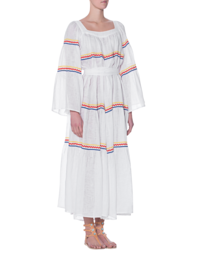 LISA MARIE FERNANDEZ Ric Rac Peasant Long White