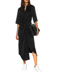 SOSUE Wrap Midi Black