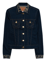 TRUE RELIGION Skinny Trucker Goldstuds Blue