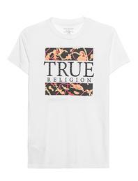 TRUE RELIGION Crystal Chain Shirt White