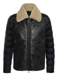 BLAUER USA Mixed Real Down Leather Black