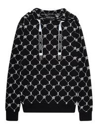 JEREMY MEEKS Hoody Allover Logo Black