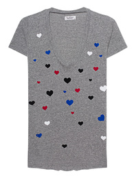 LAUREN MOSHI Emmalyn Color Scattered Hearts Grey