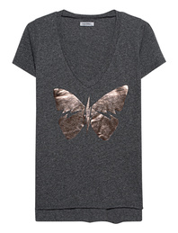 LAUREN MOSHI Emmalyn V-Neck Butterfly Grey